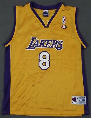 Kobe Bryant Los Angeles Lakers  8 Vintage Champion NBA Jersey Youth Large  14-16 02ebc3ca1
