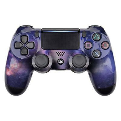PS4 Controller Cover Case Casing Shell Front Purple Galaxy Slim pro V2