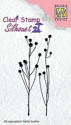 Nellie Snellen Clear Cling Stamp Flowers-17 SIL035-2pcs