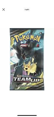 FIVE(5)x Pokemon Team Up Sun & Moon Factory Sealed Booster Pack
