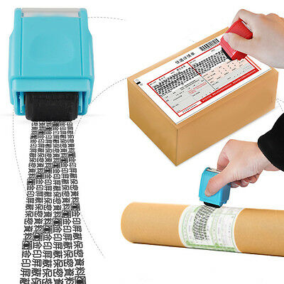 Mini ID Roller Stamp Self-Inking Stamping Stamps Code Security Office Supply DIY