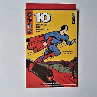 Canada Stamps - Booklet Of 10 Superheroes - Plus Additional Strip Of 5 Stamps