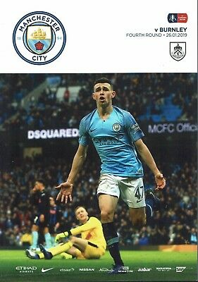 Man City v Burnley FA Cup 26th January 2019 Official Match Programme 2018/2019