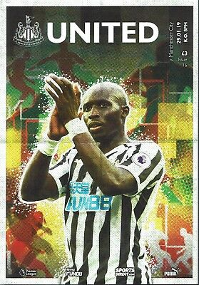 Newcastle United v Man City 29th January 2019 Official Match Programme 2018/2019