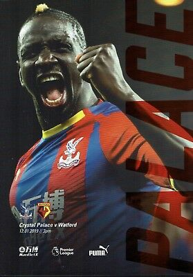 Crystal Palace v Watford 12th January 2019 Official Match Programme 2018/2019
