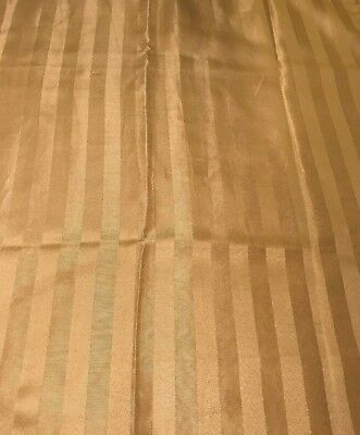 Gold Linen Polyester Tablecloth with square corners 58 x 80