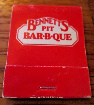 BENNETTS Pit Bar B Que Denver Englewood Arvada Matchbook Of Restaurant Lot A2
