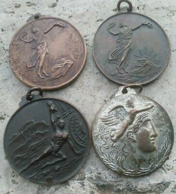 Vintage Greek bronze medals