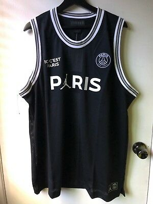 more photos e991e d5a00 NIKE JORDAN X PSG Flight Mesh 23 Jersey XXL BQ4204 010 2XL Paris basketball  knit