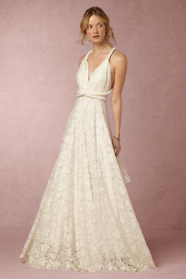 68232bde57a NEW Anthropologie BHLDN Twobirds Noelle Lace Wedding Dress Bridal Gown Size  a