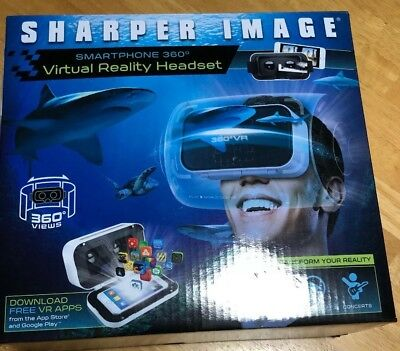 Sharper Image Smartphone 360 Virtual Reality Headset New In Package