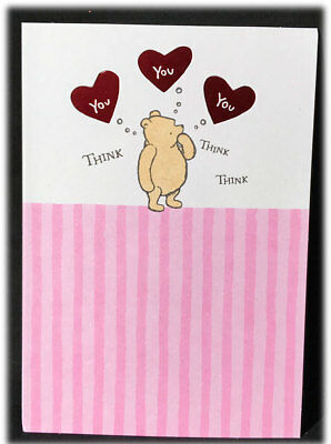 Vintage Hallmark Classic Pooh Think Thoughts Of You Valentine's Day Card