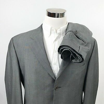 1fc71780707a Paul Smith London Mens 44R Suit 32 x 31 Wool Mohair Gray Three Button Italy