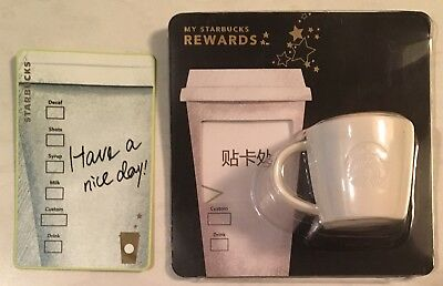 Starbucks 2018 China Have A Nice Day Card And Magnet Set  READ DESCRIPTION