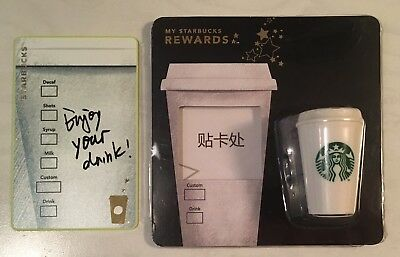 Starbucks 2018 China Your Favorite Drink Enjoy Your Drink Card And Magnet Set