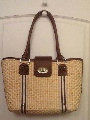 e788d554cd CHAPS BY RALPH LAUREN Woven Handbag Shoulder Bag Tote Purse (1)