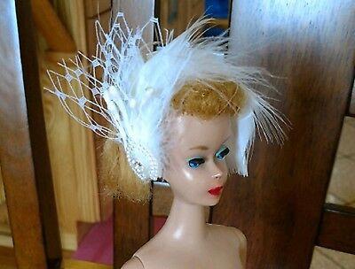BOA HATBAND..CHIC! NEW BARBIE HATS FOR VINTAGE BARBIE CLOTHES AMAZING