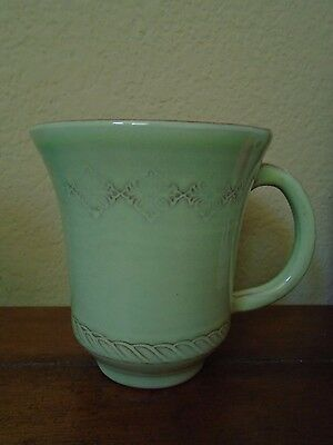 New Vietri Bellezza Celadon Set Of 4 Coffee Mugs