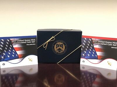 2017 US Mint Uncirculated Coin Set Both P & D. Comes In Special US Mint Gift Box
