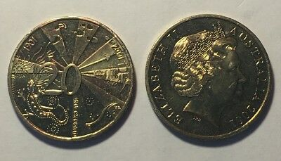 Rare 2001 Centenary Of Federation 20 Cents Coin Queensland - Uncirculated