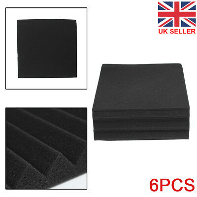 6PCS Acoustic Panels Tiles Studio Sound Proofing Insulation Closed Cell Foam UK