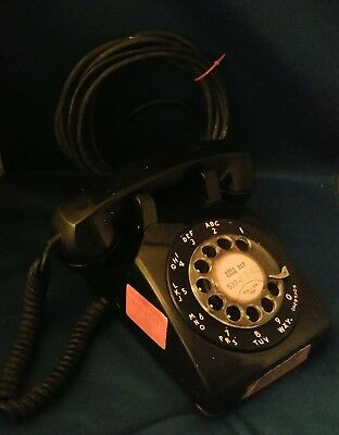 Vintage 1952 Black Western Electric Bell System 500 Rotary Dial Desk Telephone