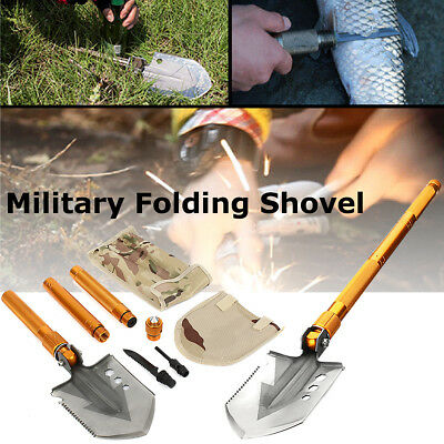 Military Folding Shovel Multi Function Survival Outdoor Camping Emergency Tool