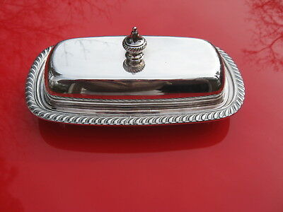Vintage Oneida Fiesta Covered Silverplate Butter Dish W/ Pyrex Liner