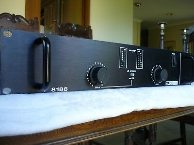 Audio Telex 8188 Professional 2 Channel Audio Power Amplifier in Mint Condition