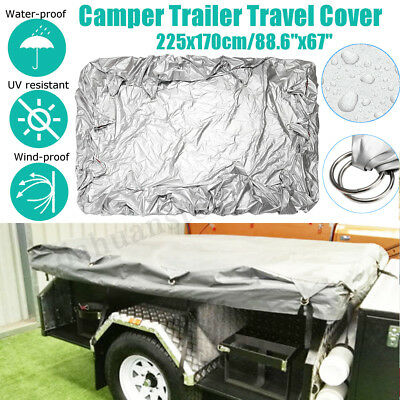 Travel Cover for Camper Trailer Tent Universal Fit For Most Models 225x170cm