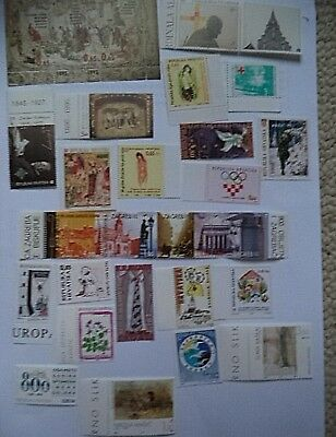 39 M.U.H. Stamps from Croatia