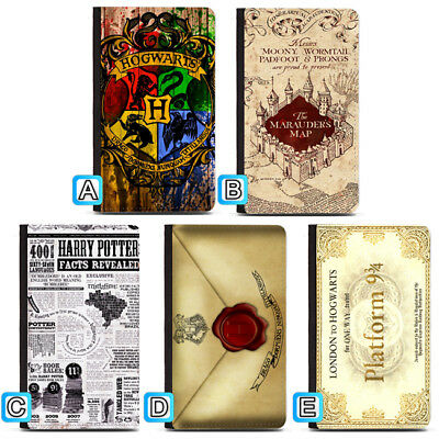 Harry Potter Marauders Map Hogwarts Passport Holder Travel PU Leather Cover Case