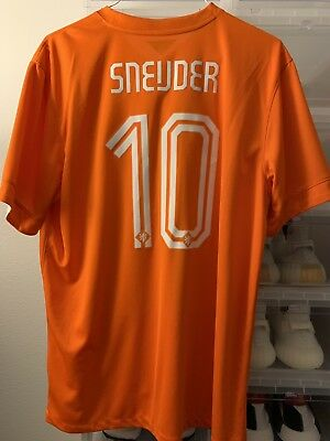 NETHERLANDS HOLLAND 2014 JERSEY WESLEY SNEIJDER World Cup USED Sz XL Nike b41e9d487