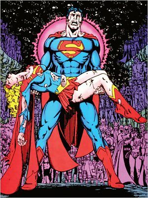 Death of Supergirl Crisis Infinite Earths DC George Perez poster 3 sizes