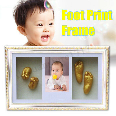Photo Frame Baby Hand & Foot Print Casting Kit DIY 3D Unique Keepsake