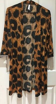 Peter Alexander Polyester Leopard Dressing Gown Size M
