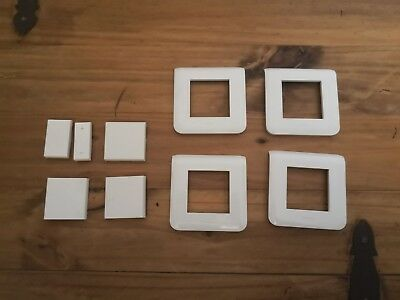 LEGRAND 78802 Plaque Mosaic 2 modules - blanc - Lot de 4 + Enjoliveurs