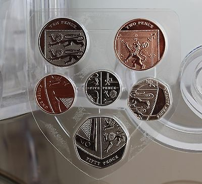 2015 UK Definitive 6 Coin Set - Shield - BU - Fifth Portrait