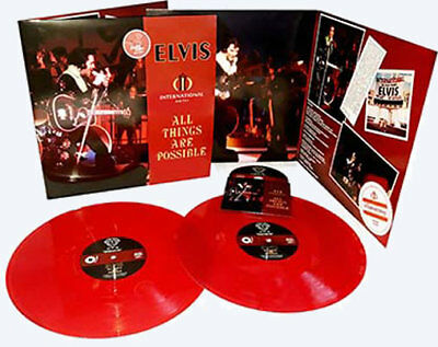 Elvis - All Things Are Possible - RED VINYL 2 LP + CD Set - New & Sealed