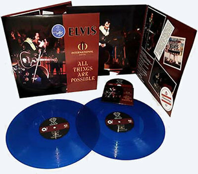 Elvis - All Things Are Possible - BLUE VINYL 2 LP + CD Set - New & Sealed