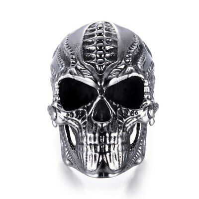 Ring For Men Skull Bone Skeleton Metal Gothic Punk Rock Biker Jewelry