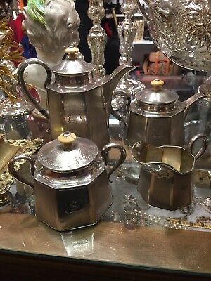 Antique 19th Century Solid Silver Russian Imperial Four Piece Tea Set,Date-1862