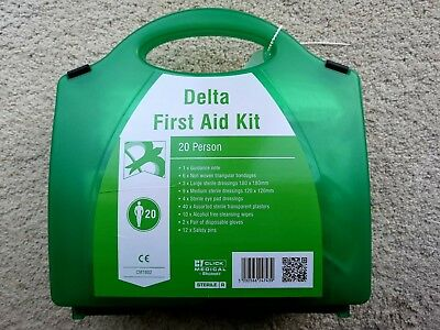 DELTA HSE 1-20 Premium HSE Compliant First Aid Workplace Kit, CE Marked