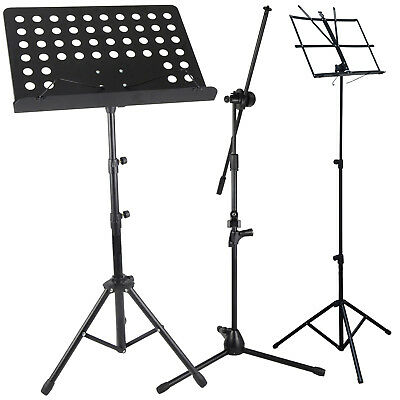 Music Orchestral Paper Mic Book Holder Tripod Stand Carry Bag Height Adjustable
