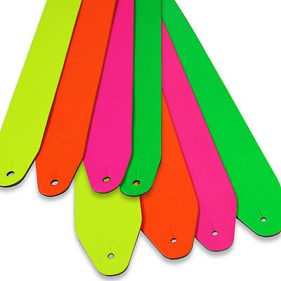 Leather Guitar Straps Job Lot Fluorescent Colours Genuine Leather