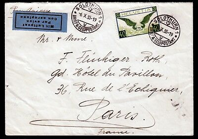 Schweiz 234 z a. LP-Brief Solothurn-Paris 6.10.35