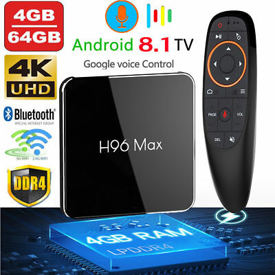H96 MAX X2 Voice Control Android 8.1 Smart TV Box 4GB+64GB BT 4KHD 2.4+5.8G WiF