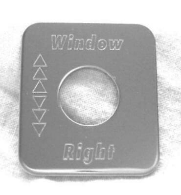 Switch plate window right stainless steel block letters for Kenworth 1982-2001