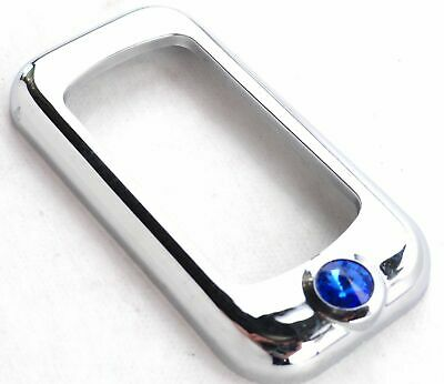rocker switch trims(3) blue jewel chrome plastic for Freightliner Kenworth Pete