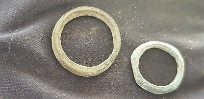 A lovely pair of Celtic bronze money rings. A must read description. L91y